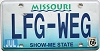 2006 Missouri Vanity graphic # LFG-WEG