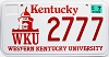 2006 Western Kentucky University graphic # 2777