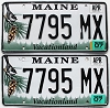 2007 Maine graphic pair # 7795-MX