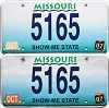 2007 Missouri Vanity graphic pair # 5165