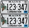 2008 Maine Combination graphic pair # 123-347