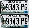 2008 Maine graphic pair # 9343-PG