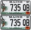2009 Maine graphic pair # 735-QB