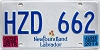 2015 Newfoundland and Labrador # HZD-662