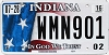 2016 Indiana In God We Trust graphic # WMN901