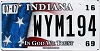 2016 Indiana In God We Trust graphic # WYM194