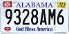 2017 Alabama God Bless America # 9328AM6
