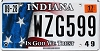 2017 Indiana In God We Trust graphic # WZG599
