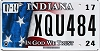 2017 Indiana In God We Trust graphic # XQU484