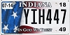 2018 Indiana In God We Trust graphic # YIH447
