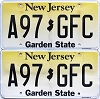 2018 New Jersey Garden State graphic pair # A97-GFC