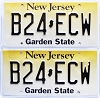 2018 New Jersey Garden State graphic pair # B24-ECW