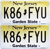 2018 New Jersey Garden State graphic pair # K86-FYU