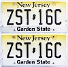 2018 New Jersey Garden State graphic pair # ZST-16C