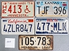 Saturday Special lot # 402, group of 5 mixed old license plates