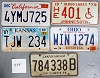 Saturday Special lot # 404, group of 5 mixed old license plates