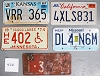 Saturday Special lot # 406, group of 5 mixed old license plates