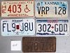 Saturday Special lot # 409, group of 5 mixed old license plates