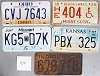 Saturday Special lot # 410, group of 5 mixed old license plates