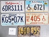 Saturday Special lot # 414, group of 5 mixed old license plates