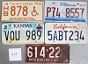 Saturday Special lot # 415, group of 5 mixed old license plates