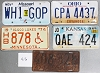 Saturday Special lot # 416, group of 5 mixed old license plates