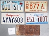 Saturday Special lot # 418, group of 5 mixed old license plates