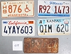 Saturday Special lot # 419, group of 5 mixed old license plates