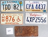 Saturday Special lot # 420, group of 5 mixed old license plates