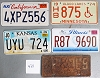Saturday Special lot # 421, group of 5 mixed old license plates