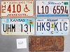 Saturday Special lot # 423, group of 5 mixed old license plates