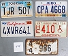 Saturday Special lot # 424, group of 5 mixed old license plates
