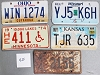 Saturday Special lot # 425, group of 5 mixed old license plates