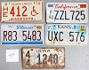 Saturday Special lot # 427, group of 5 mixed old license plates