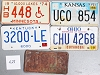 Saturday Special lot # 428, group of 5 mixed old license plates