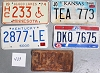 Saturday Special lot # 429, group of 5 mixed old license plates