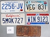 Saturday Special lot # 430, group of 5 mixed old license plates