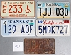 Saturday Special lot # 431, group of 5 mixed old license plates