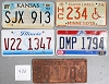 Saturday Special lot # 433, group of 5 mixed old license plates