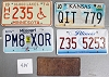 Saturday Special lot # 434, group of 5 mixed old license plates