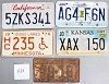 Saturday Special lot # 435, group of 5 mixed old license plates