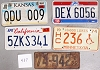 Saturday Special lot # 437, group of 5 mixed old license plates