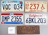 Saturday Special lot # 438, group of 5 mixed old license plates