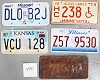 Saturday Special lot # 440, group of 5 mixed old license plates