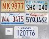 Saturday Special lot # 443, group of 5 mixed old license plates
