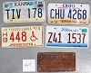 Saturday Special lot # 447, group of 5 mixed old license plates