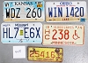 Saturday Special lot # 448, group of 5 mixed old license plates
