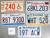 Saturday Special lot # 449, group of 5 mixed old license plates