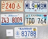 Saturday Special lot # 450, group of 5 mixed old license plates