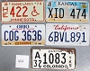Saturday Special lot # 452, group of 5 mixed old license plates